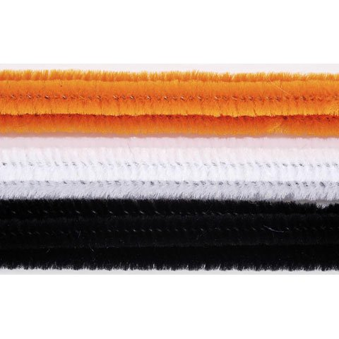 6mm Chenille Stems/Pipe Cleaners for Art & Craft (100 pieces - 12