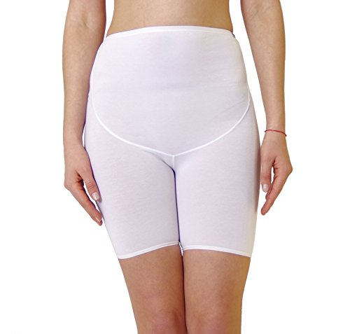 Maternity Panty with long legs by CHEZMAM, available in 3 colors: Black, White, Beige, 1045 blanco