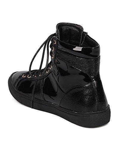 Zapatillas Altas Liliana Para Mujer - Informal, Moda, Street - Zapatilla De Deporte Con Patente - Gd88 By Black
