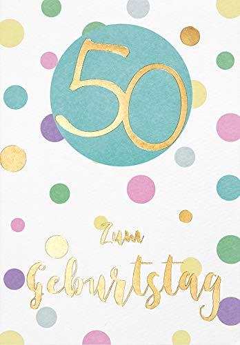 Tarjeta de cumpleaños para 50 cumpleaños pastel - puntos ...