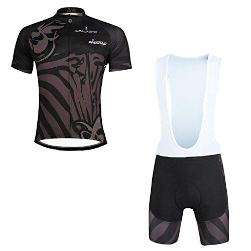 paladinsport-polyester-breathable-mens-black-short-sleeve-bike-clothes-and-bib-shorts-set-size-xxxl