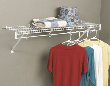 Rubbermaid 4800wht Freeslide Closet Shelf Kit 4 Feet White