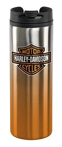 Harley-Davidson Core Bar & Shield Travel Mug - Silver & Orange HDX-98609