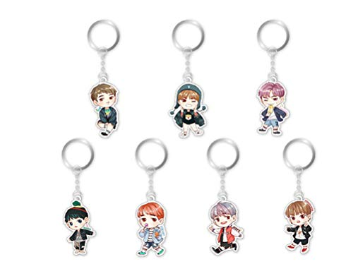 Ring Boy Key (K-POP BTS Bangtan Boys Keychain Key Ring Bag Clip (BTS-1))