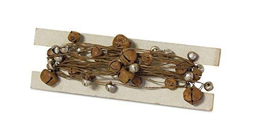 Rusted Miniature Metal Sleigh Bells Christmas Garland String 10 Feet Long Décor