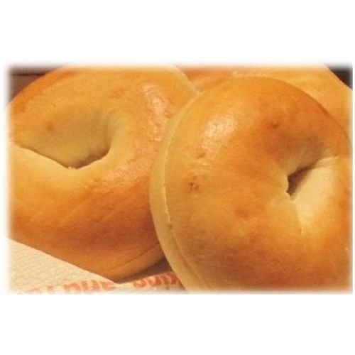 Burry Foodservice Thaw and Sell Sliced Plain Bagel, 4 Ounce - 72 per case.
