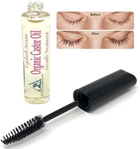 ea140569ae7 Castor Oil Organic Stimulate Eyelash Growth Serum Grows Longer Thicker  Eyelashes & Beautiful Eyebrows Cold Pressed