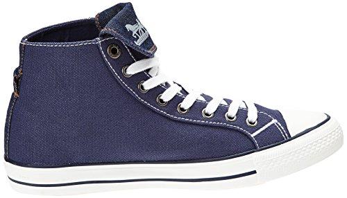 Levi's Menlo Park High Fold Lace - Zapatillas de Deporte de canvas hombre azul - Bleu (18)