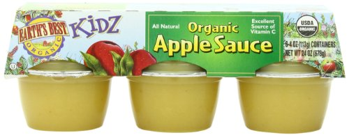 Earth's Best Organic Kidz, Apple Sauce, 6 Count, 4 Ounce