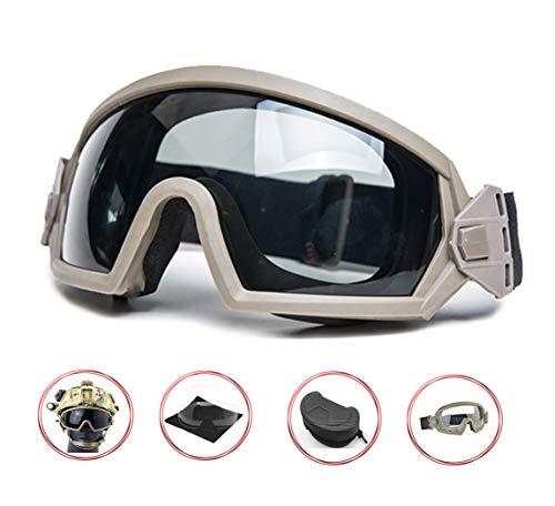Supspy Airsoft Goggles Eye Protection Paintball (Tan)