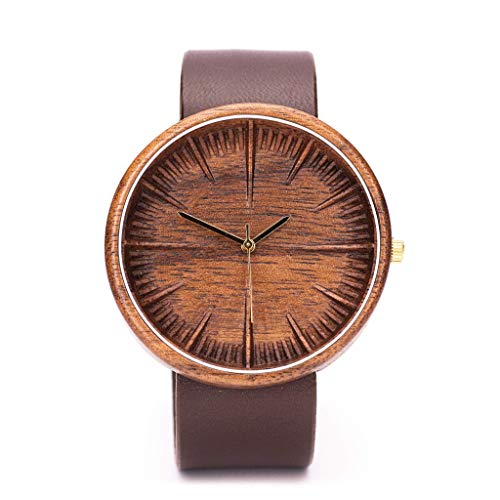 Ovi Watch - Walnut Wood Watch For Men - Powered By Swiss Movement and Sapphire Crystal Glass