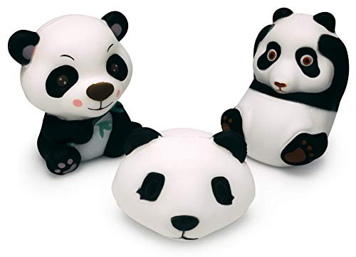 Super Slow Rising Squishies Pack. Includes a Set of 3 Squishy Jumbo Panda Bear. Large Soft Scented Cute Kawaii, Colorful Animal Stress Relief Toy for Kids and Adults. Amazing Squeeze Toys