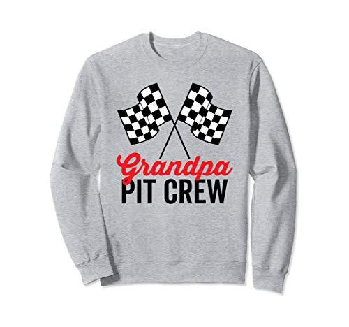 Grandpa Pit Crew for Racing Party Costume Sweatshirt ()