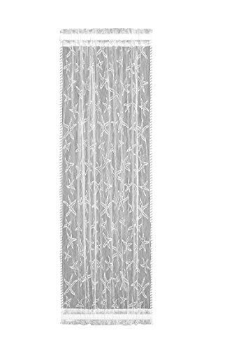 Heritage Lace Starfish Sidelight Panel, 15 by 72-Inch, White For Sale