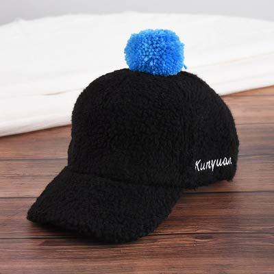(2018 Winter New Children's hat,Children's Cap Children's Pupils Sun Hat Children's Warm Sun Hat, Black, One Size)