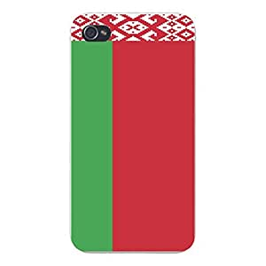 Apple iPhone Custom Case 5 5s White Plastic Snap On - World Country National Flags - Belarus