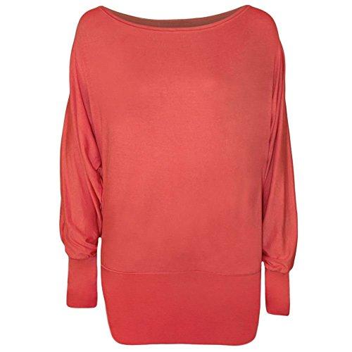 Kaaya - Camiseta de manga larga - para mujer Coral