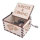 Game of Thrones Music Box Hand Crank Musical Box Carved Wooden,Play The Theme Song of Game of Thrones