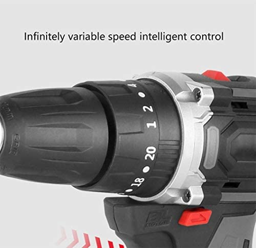 RSGDWD Electric drill, brushless lithium impact drill, multifunctional rechargeable hand drill, high power lithium battery drill, DIY household electric screwdriver