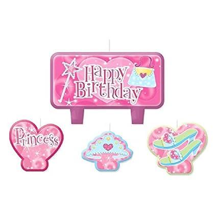 Amazon.com: Party Time Princess moldeado mini carácter Vela ...