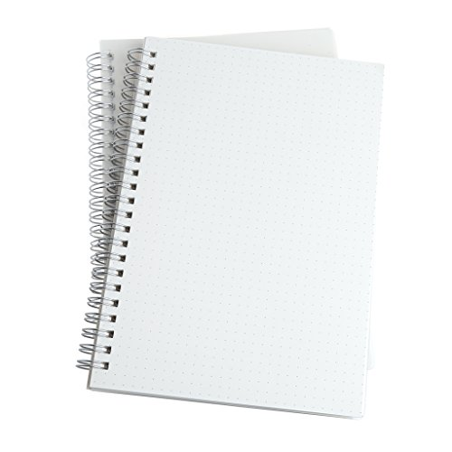 Onpiece Simple A5 Spiral Coil Note Book Paper Journal Diary Memo Dot/blank/Horizontal line/Grid Page Stationery (Dot)