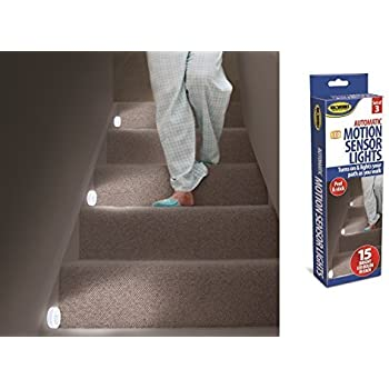 3 Motion Sensor Lights Stairs Path Night Led Automatic