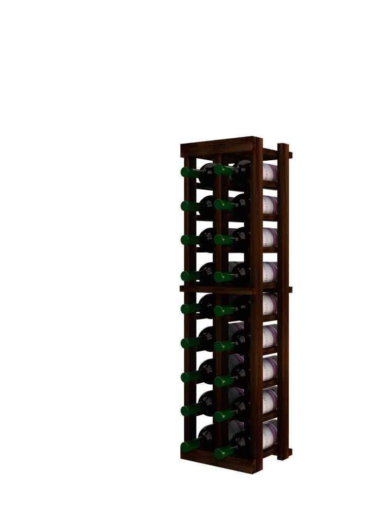 Winemaker Series Wine Rack - 2 Column - 3 Ft - Pine Dark Walnut Stain