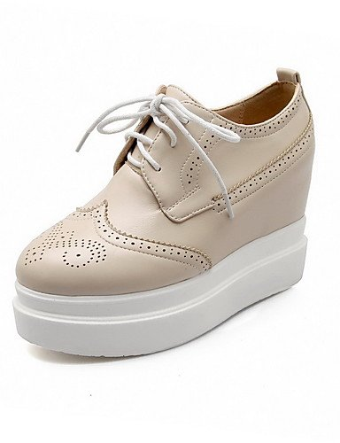 GGX/ Damen-High Heels-Lässig-Kunststoff-Keilabsatz-Creepers-Schwarz / Rosa / Beige black-us9.5-10 / eu41 / uk7.5-8 / cn42