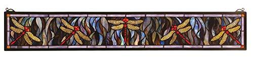 Meyda Tiffany 72896 Tiffany Dragonfly Stained Glass Window, 40