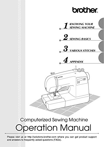 Brother XR-9000 Sewing Machine Owners Instruction Manual [Plastic Comb] There and Back
