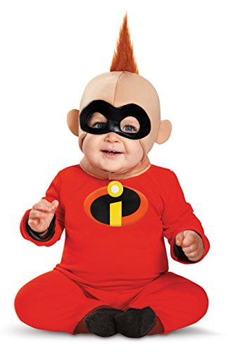 Disguise Baby Boys' Baby Jack Deluxe Infant Costume, Red/Black, 12-18 Months