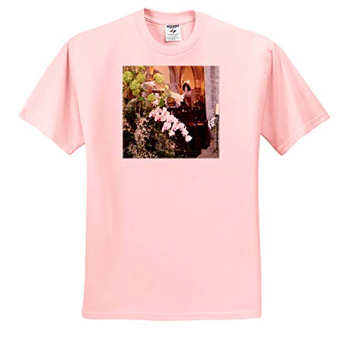 Jos Fauxtographee- Chapel London Flowers - A Church in London with Flower Bouquets in Front of it - T-Shirts - Light Pink Infant Lap-Shoulder Tee (24M) (ts_293931_73) ()