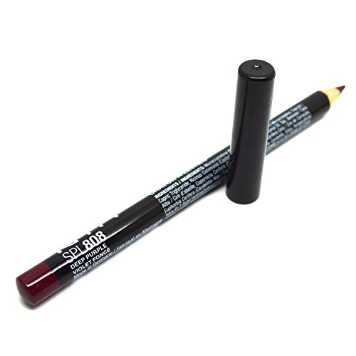 Women Slim Lip Pencil Liner Net Wt. 0.03 oz / 1.1 g BeutiYo + Free Earring (SPL808 DEEP PURPLE)