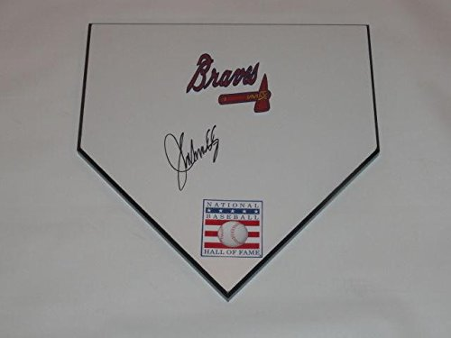 John Smoltz Signed Home Plate Atlanta Braves Hall Of Fame 2015 Exact Proof Hof - MLB Game Used Bases