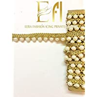 Eerafashionicing 8 mtr Pearl Lace for Dresses, Sarees, Lehenga, Suits, Bags, Decorations, Border