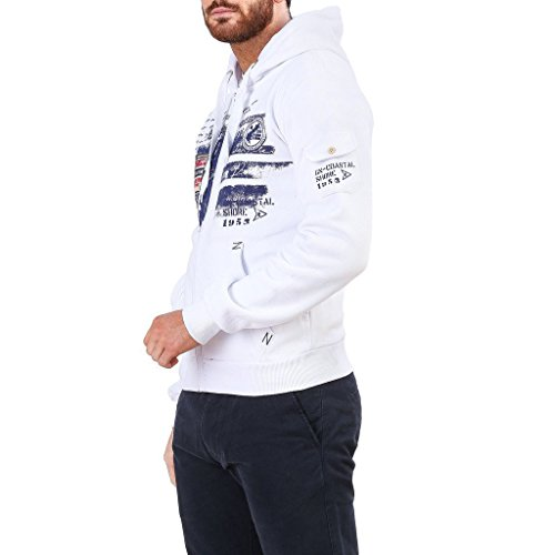 Geographical Norway Fohnson_man Felpe Uomo Bianco L