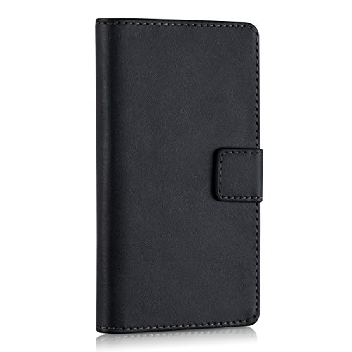 kwmobile Elegant synthetic leather case for the Huawei Honor 3C with magnetic fastener and stand function in Black