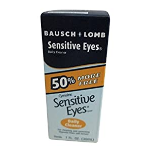 Bausch & Lomb Sensitive Eyes Daily Cleaner, 1-Ounce Bottles (Pack of 3)