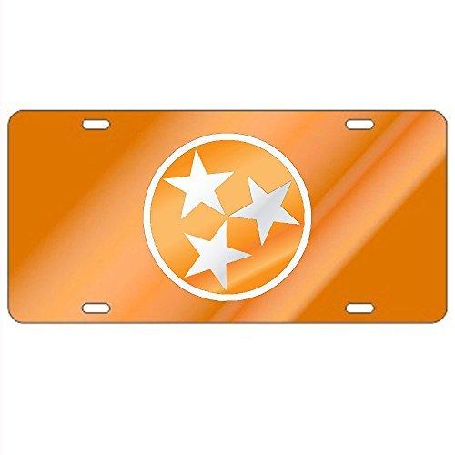 Tennessee Volunteers Orange Tri-Star Laser Cut License Plate