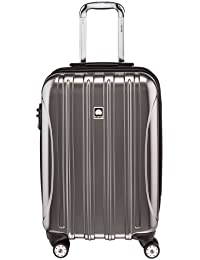 Delsey Luggage Helium Aero, Carry On Luggage, Hard Case Spinner Suitcase, Titanium