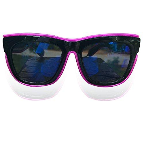 Led Costume Sunglasses Light Up Party Sunglasses Blue Lens (Purple, - Tron Sunglasses