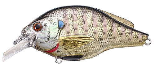 Koppers Flat Sided Square Bill Crank Lure, 2-3/4-Inch, Bluegill Metallic (Bass Smallmouth Bait)