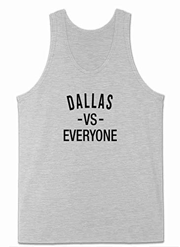 Pop Threads Dallas vs Everyone Texas Sports Fan Gray L Mens Tank Top