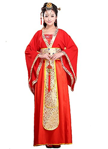 Chinese Traditional Costume For Girls (Bysun chinese ancient women's stage Han Fu costume RedM)