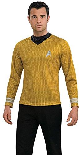 Rubie's Starfleet Uniforms Adult Costume Gold Captain Kirk - X-Large
