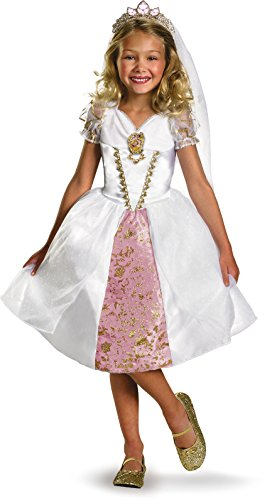 Disney Costumes Ideas For Women (Disney Tangled Rapunzel Wedding Gown Costume, Gold/White/Pink, Medium)