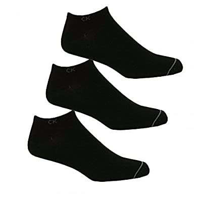 Calvin Klein 3-Pack Casual Men's Trainer Socks, Black