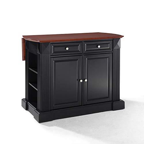 Crosley Furniture KF30007BK Drop Leaf Kitchen Island/Breakfast Bar, Black from Crosley Furniture