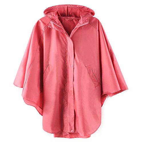 Coat Raincoat (Women's Waterproof Packable Rain Jacket Batwing-sleeved Poncho Raincoat)