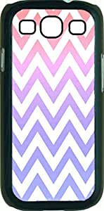 Color Fusion Chevrons Case for the Samsung Galaxy S3 i9300 -Hard Black Plastic Case